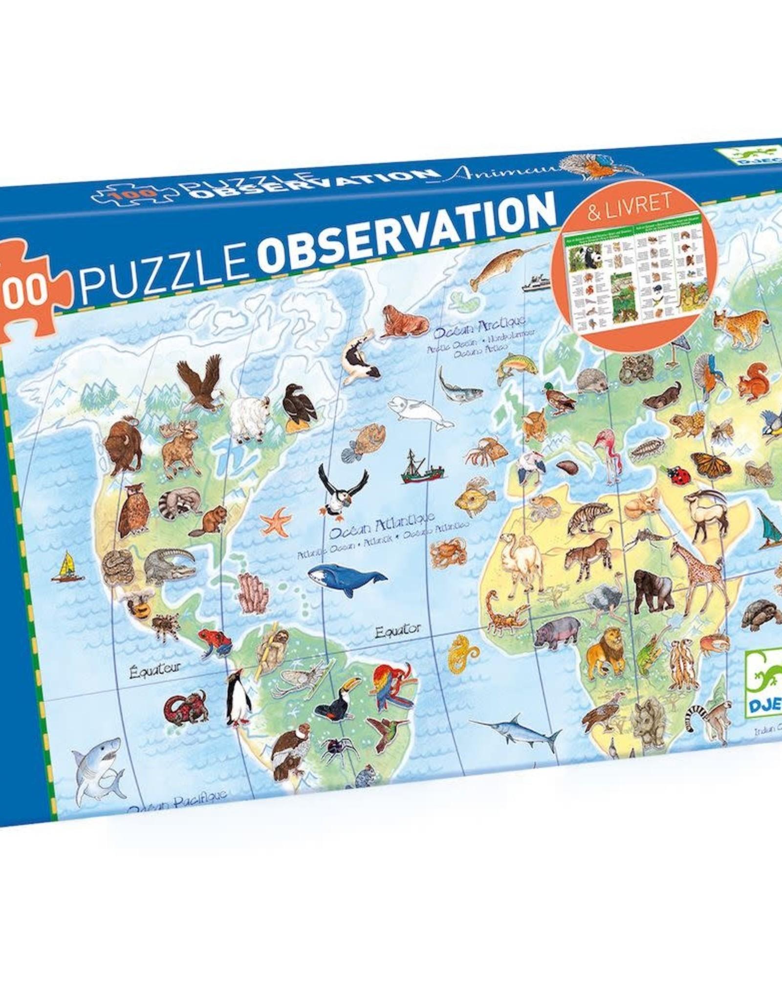 Djeco Djeco World Animals Observation Puzzle, 200 pcs