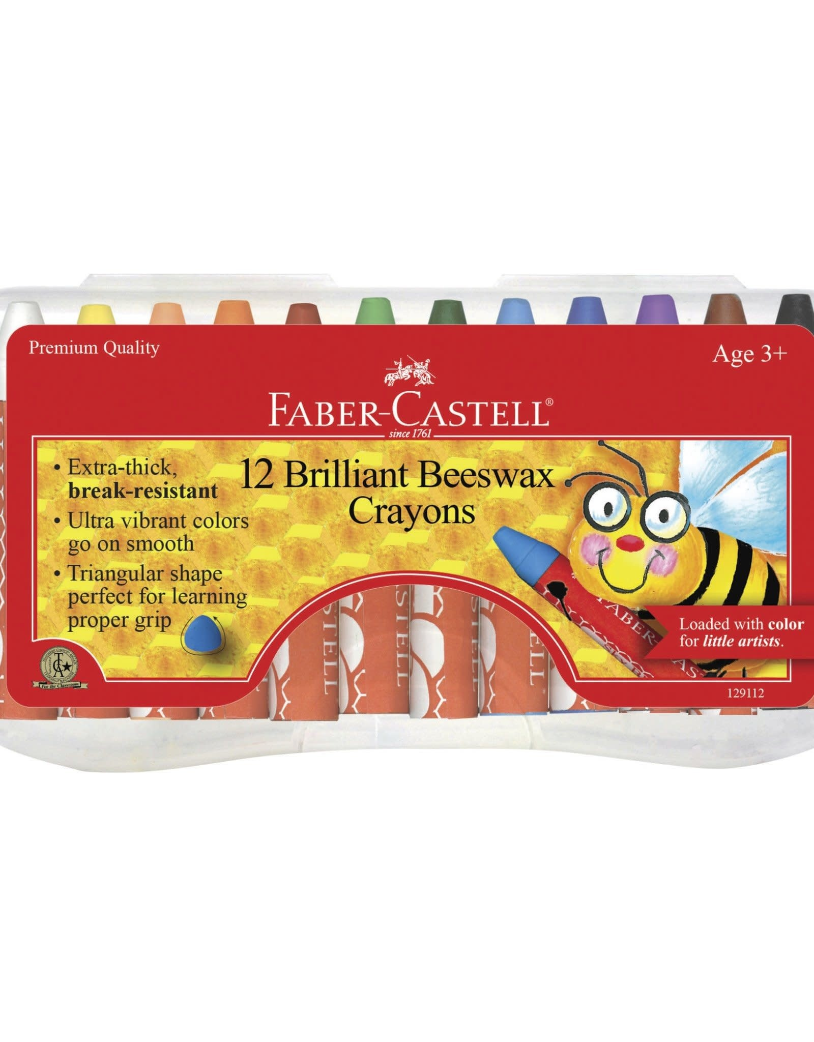 Faber Castell 12 Brilliant Beeswax Crayons in Storage Case