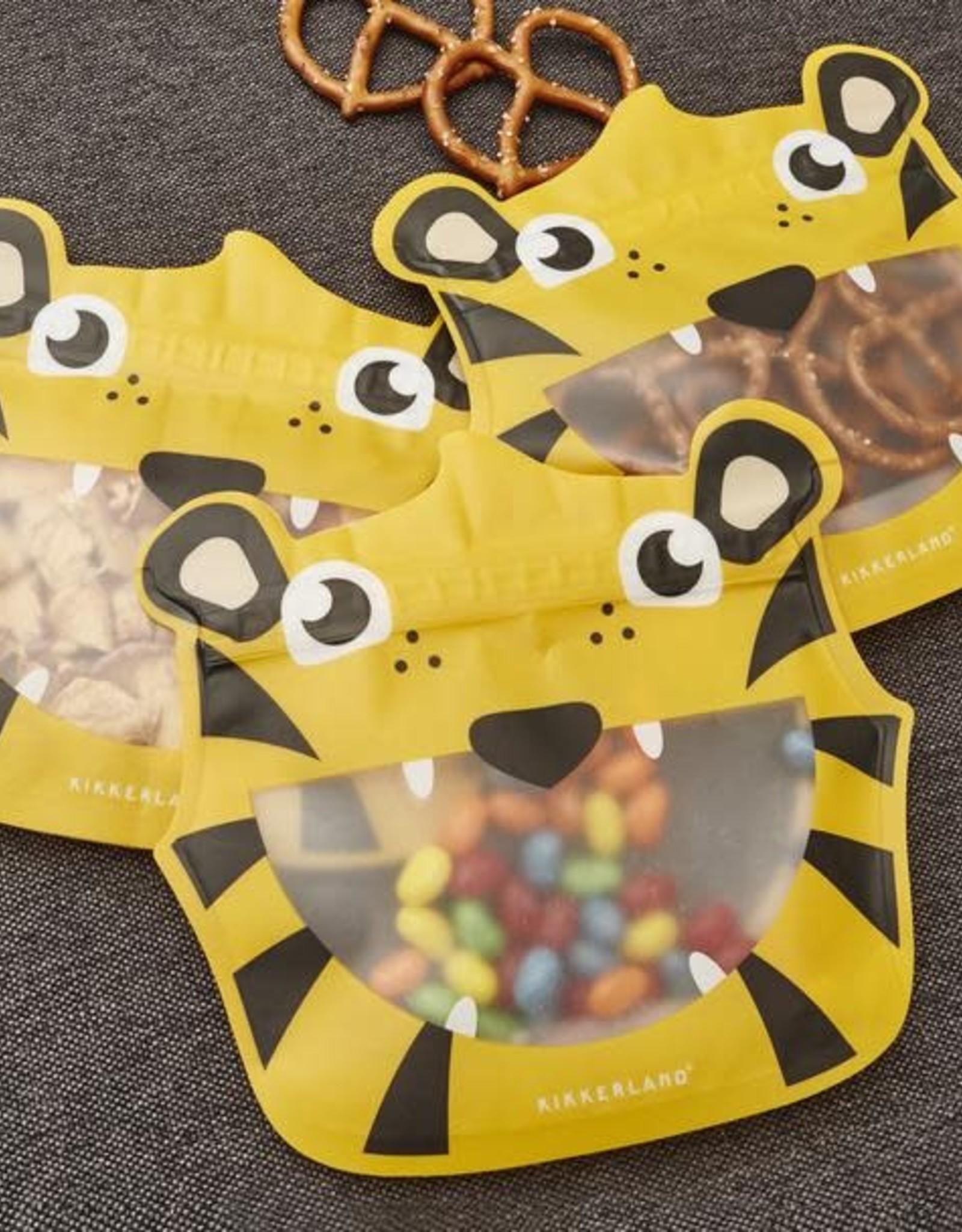 Tiger Zipper Snack Bags