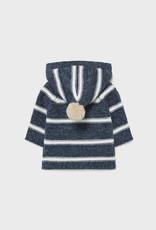 Mayoral Hooded Cardigan - Navy & White