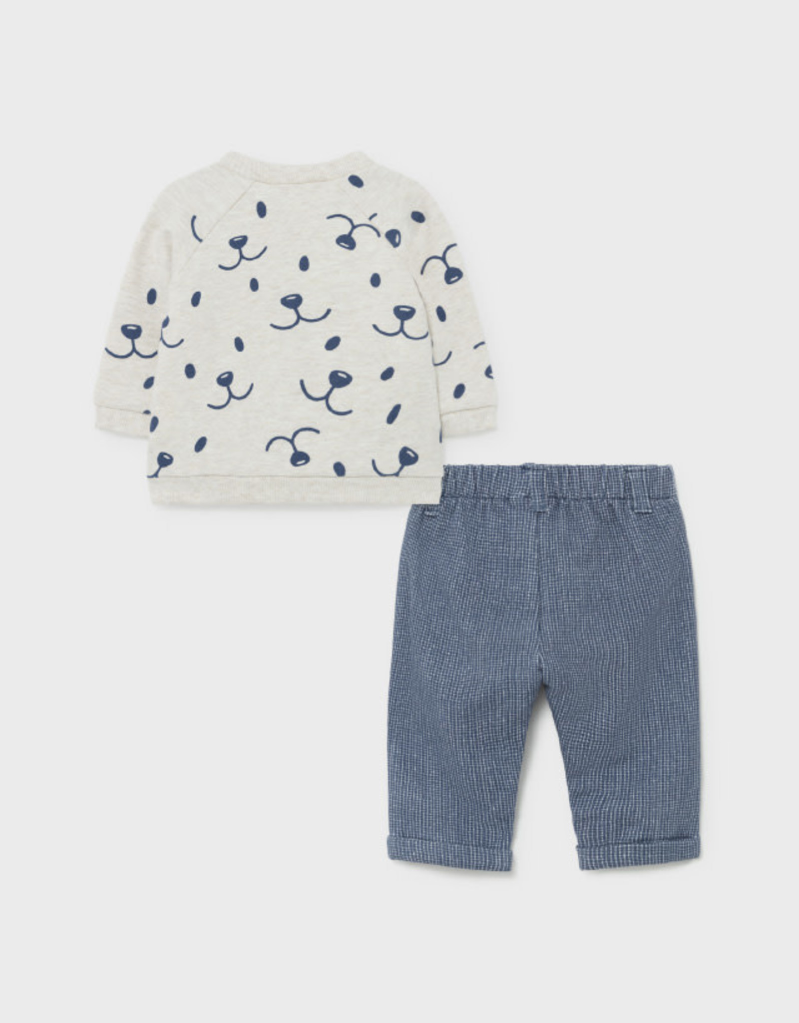Mayoral Sweatshirt & Pants Set - Navy/Tan