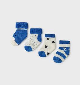 Mayoral 4 pc Sock Set - Light Blue/Cream