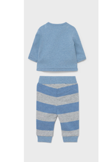 Mayoral Sweatshirt & Pants Set - Bue/Grey