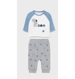 Mayoral Sweatshirt & Pants Set - Grey/White