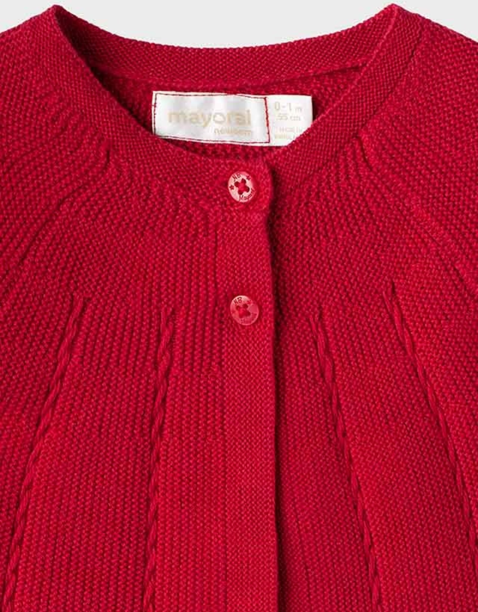 Mayoral Knit Cardigan - Red