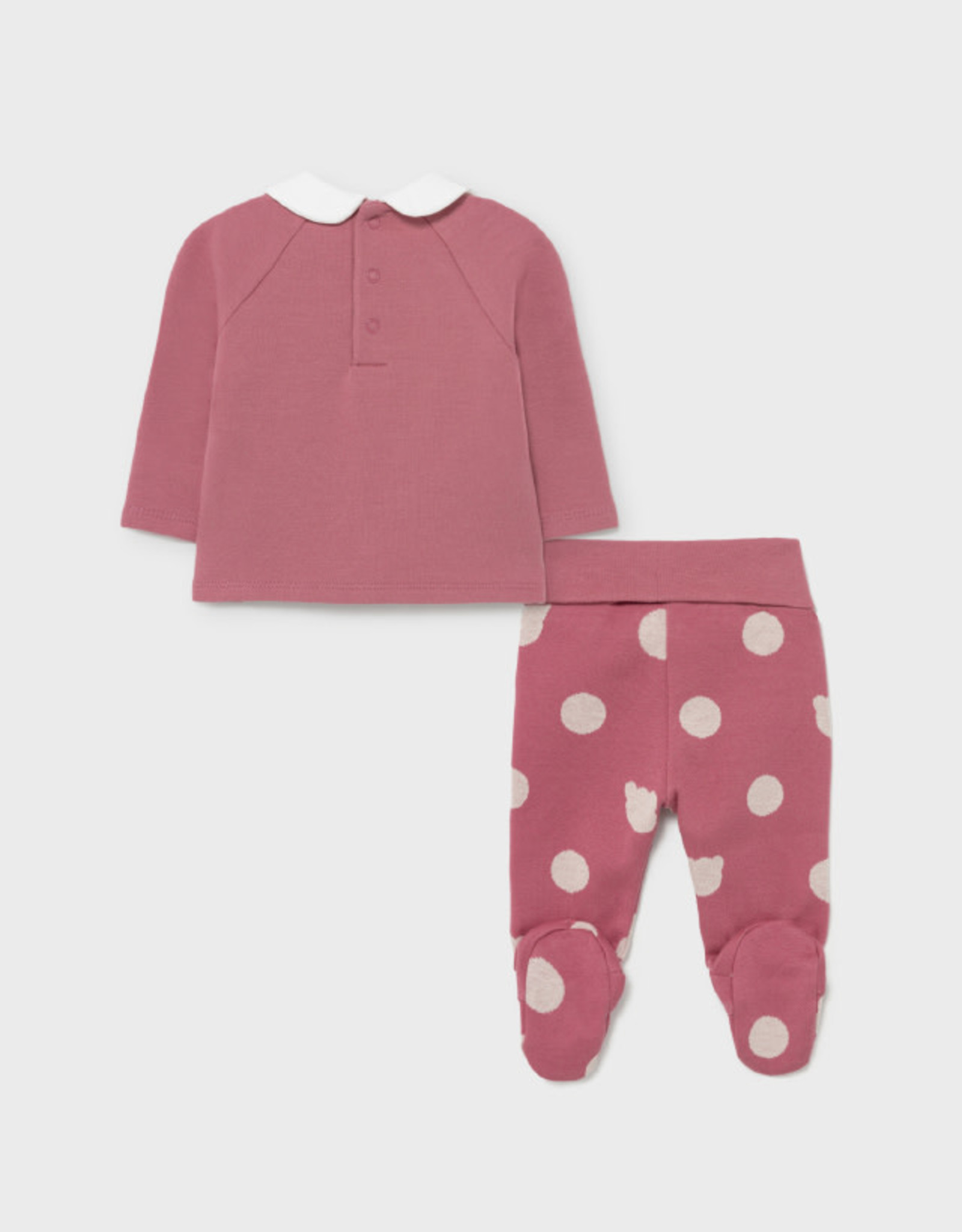 Mayoral Top w/ Footed Pants - Pink
