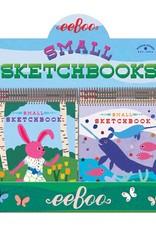 eeBoo Small Sketchbook, Assorted Animal Designs
