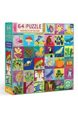eeboo Portraits of Nature 64pc Puzzle