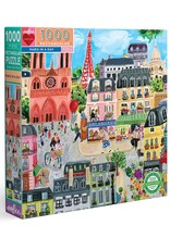eeBoo Paris in a Day 1000 Piece Puzzle