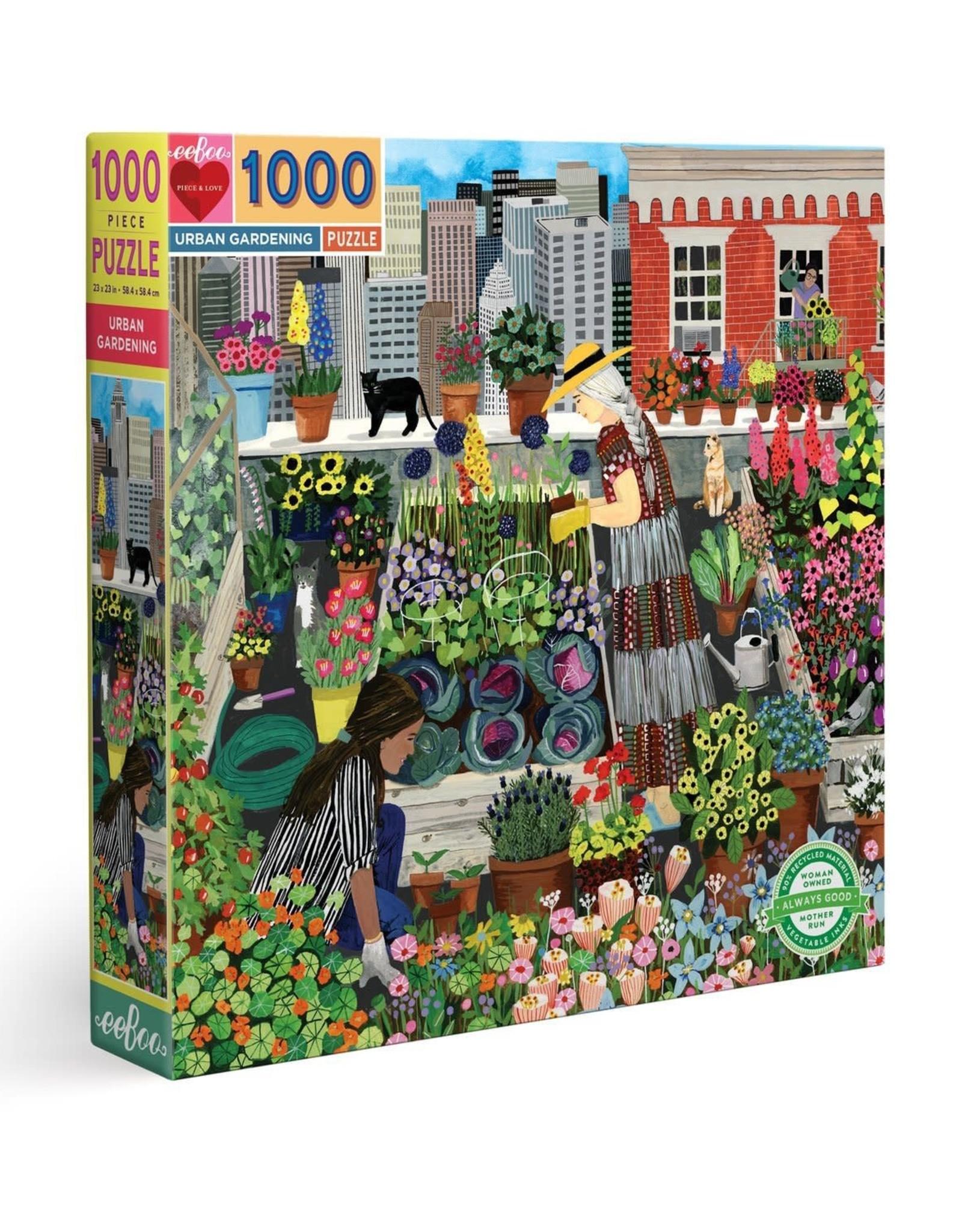 eeBoo Urban Gardening 1000 Piece Puzzle