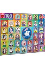 eeboo Votes for Women 100 pc  Puzzle