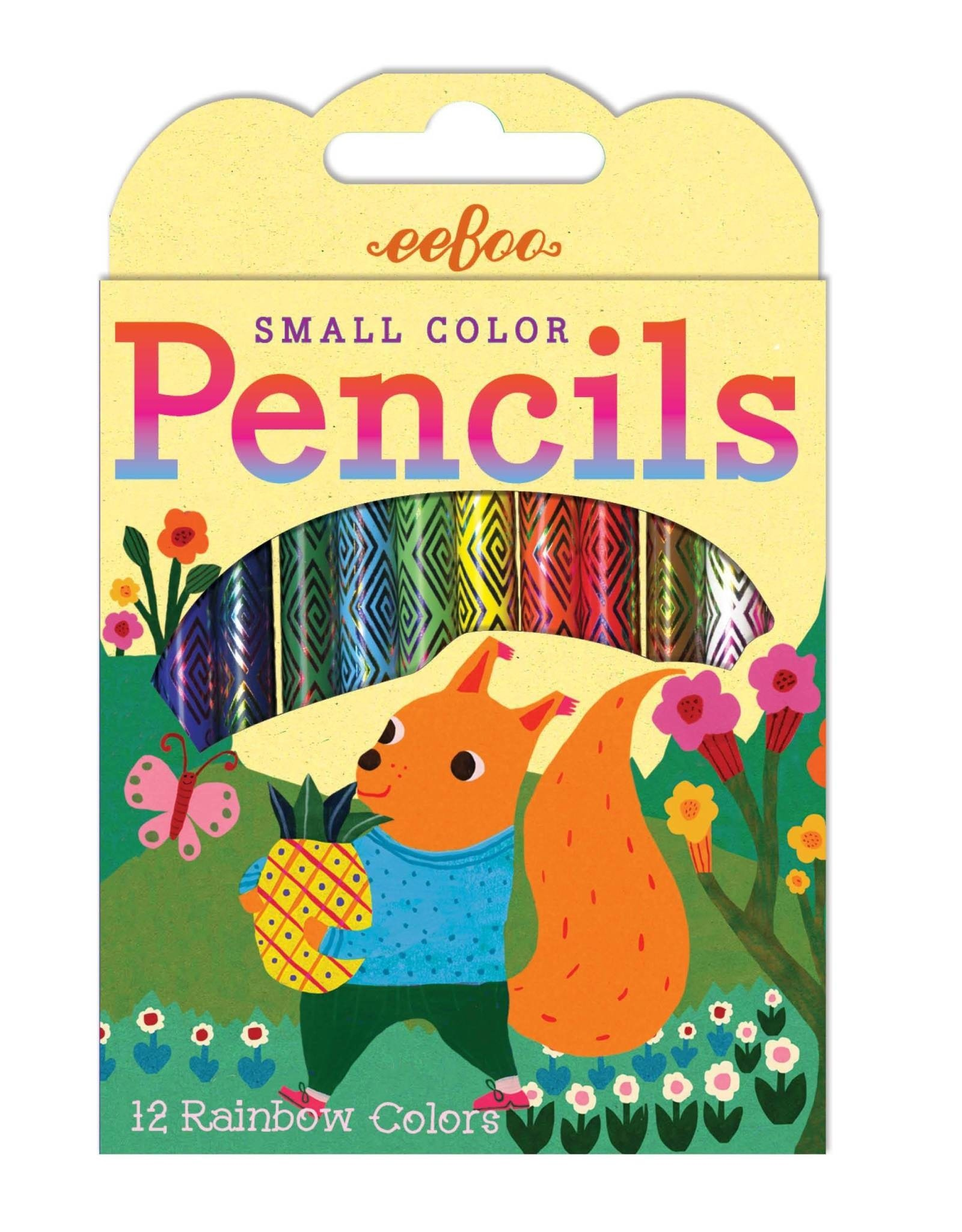 eeBoo 12 Pack of Small Color Pencils, Assorted Animal Designs