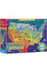 eeboo United States 20 pc Puzzle