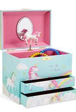 Jewelkeeper Magical Unicorn, 2 Drawers,  Musical Jewelry Box