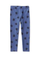 Tea Printed Leggings - Luck Star in Blue