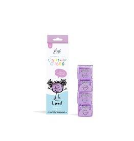 Glo Light Up Cubes purple/Lumi (4 pack)