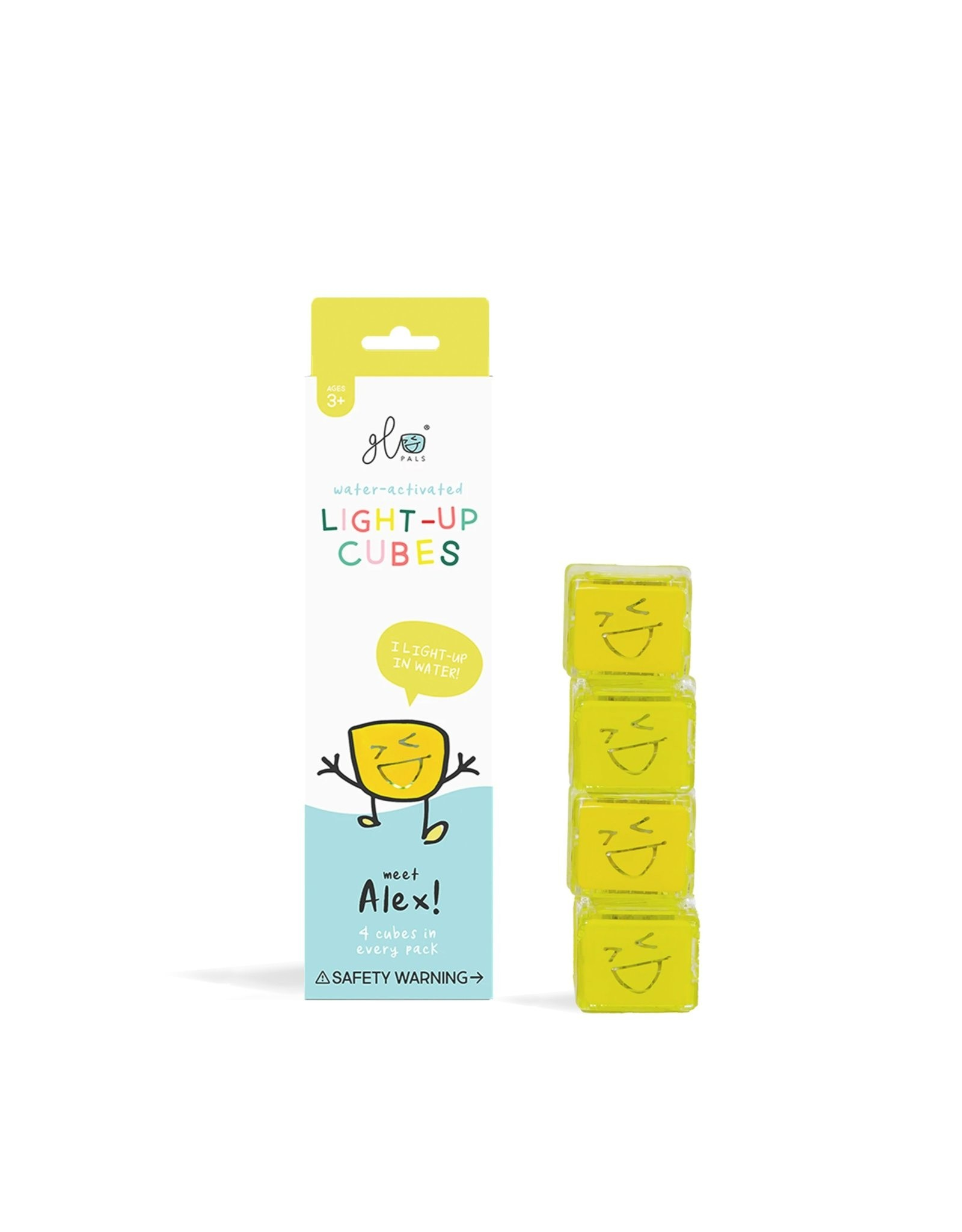 Glo Light Up Cubes yellow/Alex (4 pack)