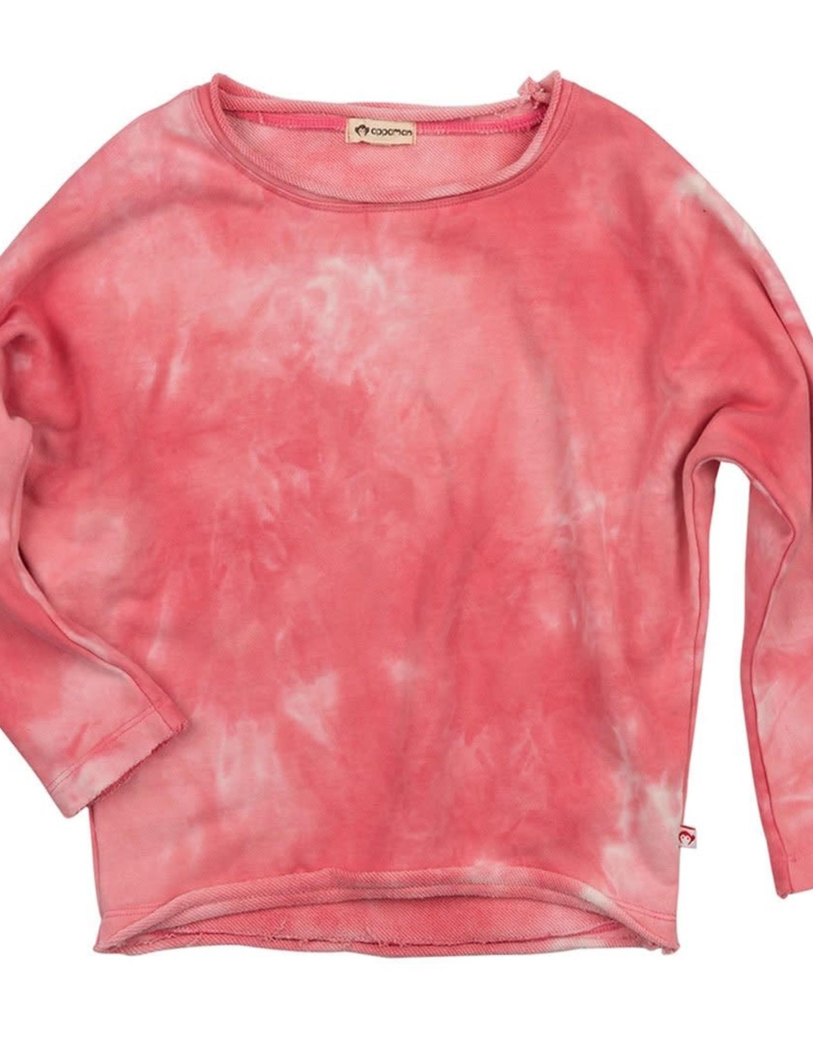 Appaman Slouchy Sweatshirt - Pink Tie Dye