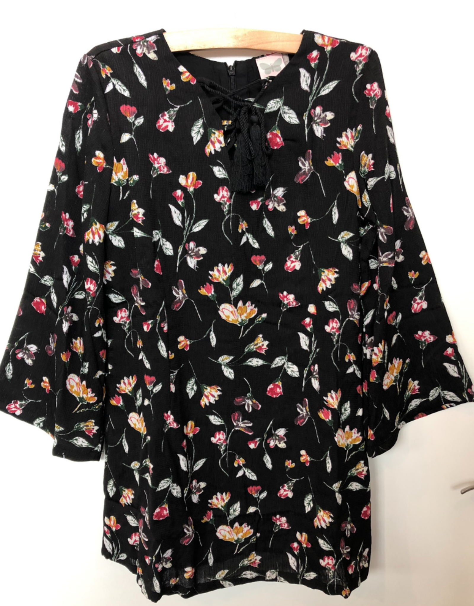 For All Seasons Black Floral Dress