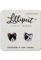 Tuxedo Kitty Cat Earrings