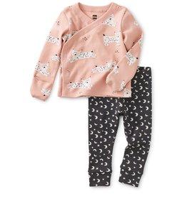 Tea Wrap Top Baby Outfit - Jinx Lynx