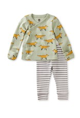 Tea Wrap Top Baby Outfit - Fancy Foxes