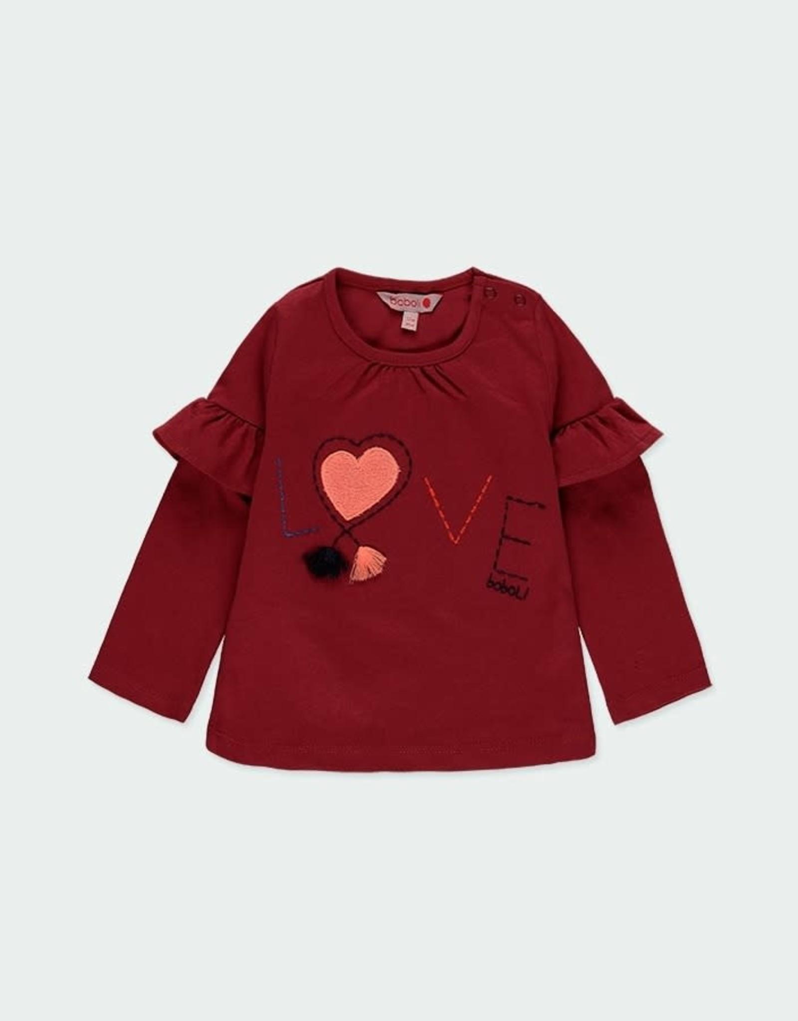 Boboli Ruffled Sleeve Shirt - Love