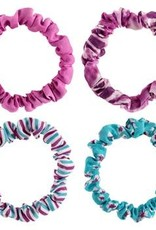 Slim Scrunchies, Set of 4, Purple Madness