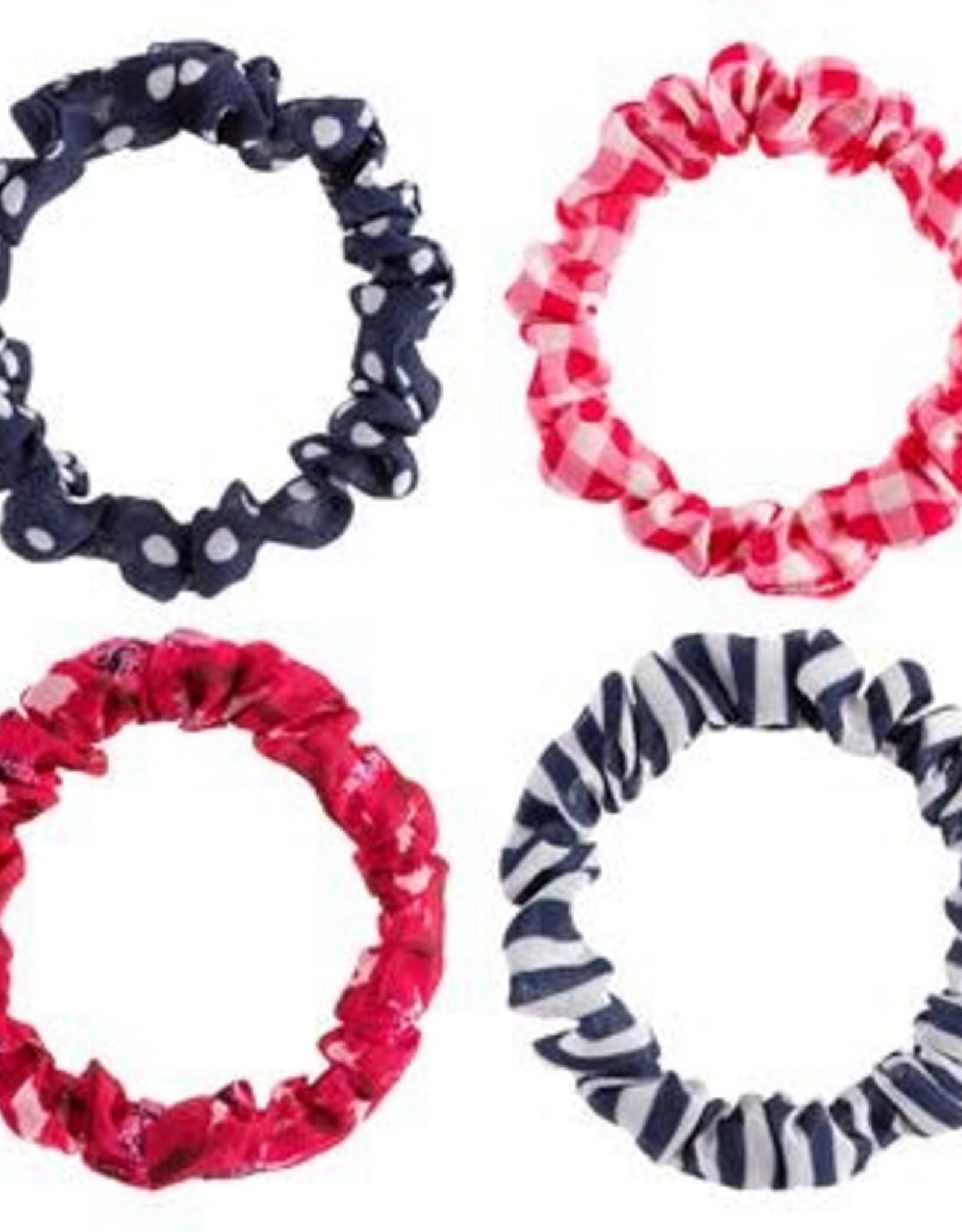 Slim Scrunchies, Set of 4, Pink Poppies