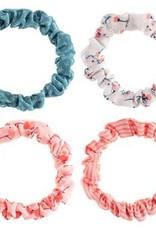 Slim Scrunchies, Set of 4, Flamingo