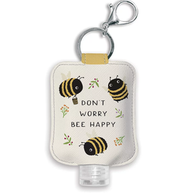 Don't Worry Bee Happy Hand Sanitizer Holder with Bottle