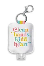 Clean Hands Kind Heart Hand Sanitizer Holder with Bottle