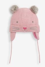 Jojo Maman Bebe Cat Hat - Pink Grey
