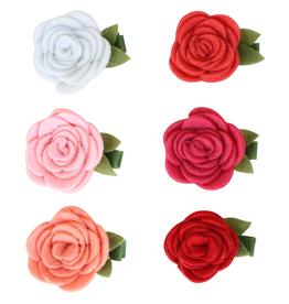 Bows Arts Felt Rose Grippie Clippie