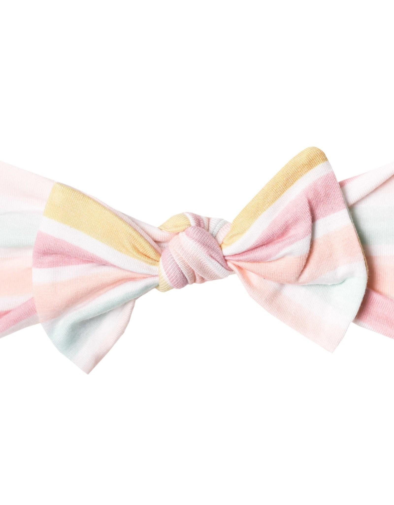 Copper Pearl Knit Headband Bow Belle