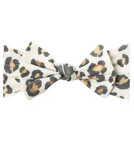 Copper Pearl Knit Headband Bow Zara