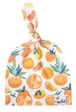 Copper Pearl Top Knot Hat  Citrus