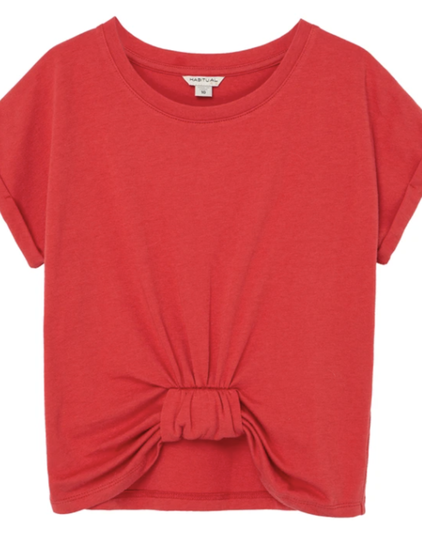 Habitual Gathered Knot Front Top, Red