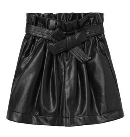 Habitual Paperbag Skirt, Black