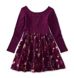 Tea Ballet Skirted Dress, Painted Petals