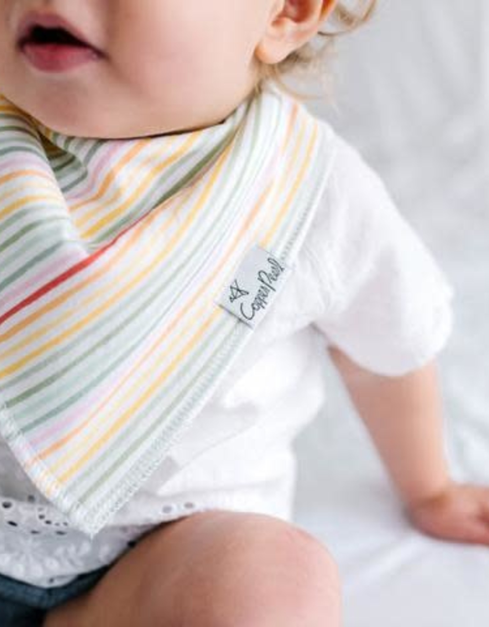 Copper Pearl Bib Leilani - Rainbow Stripe
