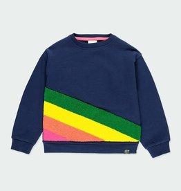 Boboli Sweatshirt - Navy w/ Colored Stripes