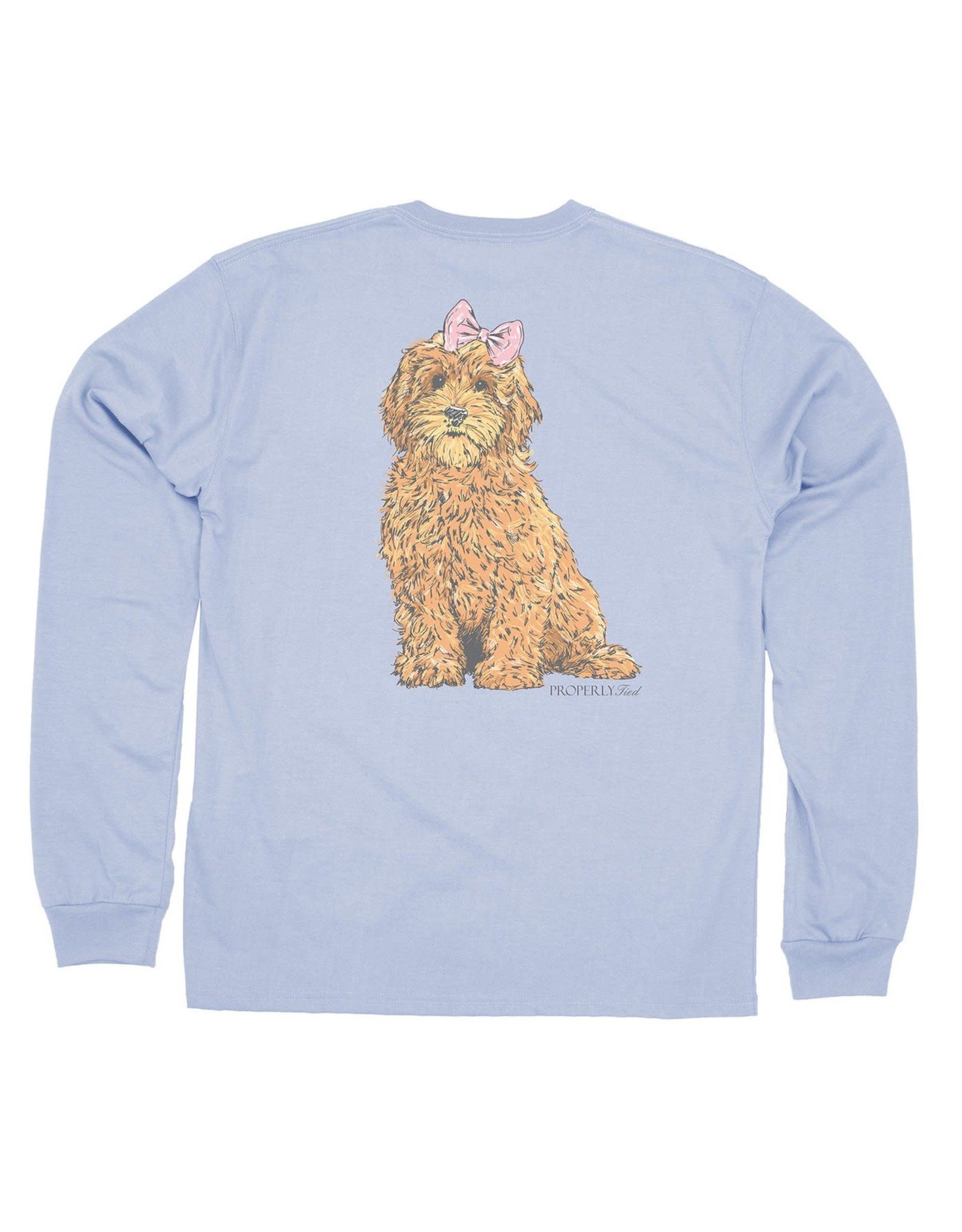 Properly Tied Goldendoodle Tee, Periwinkle
