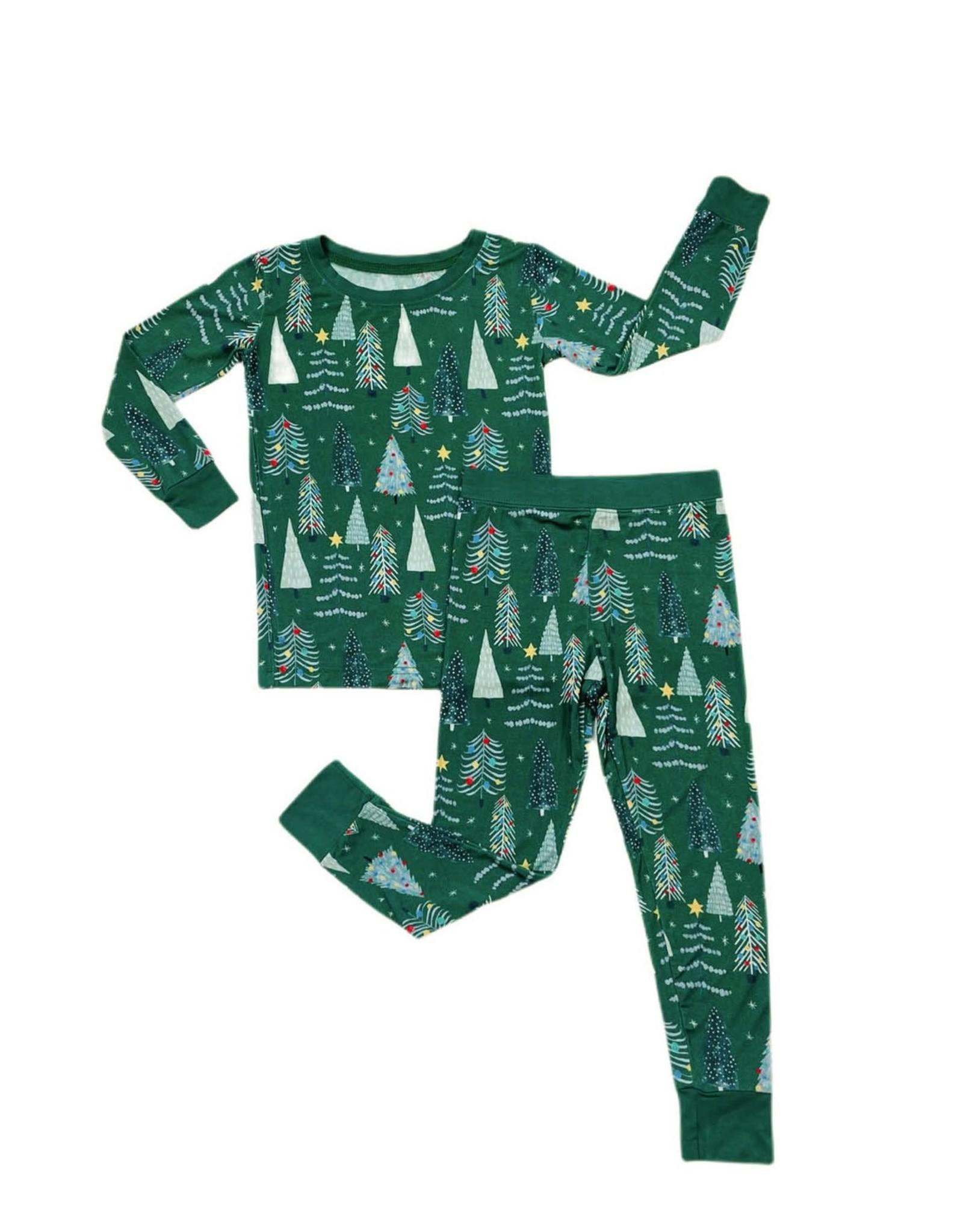 Little Sleepies Green Twinkling Trees Two-Piece Pajama Set