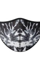 Top Trenz Fashion Face Mask, Small, Black Tie Dye