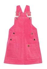 Deux Par Deux Corduroy Jumper with Pocket, Pink