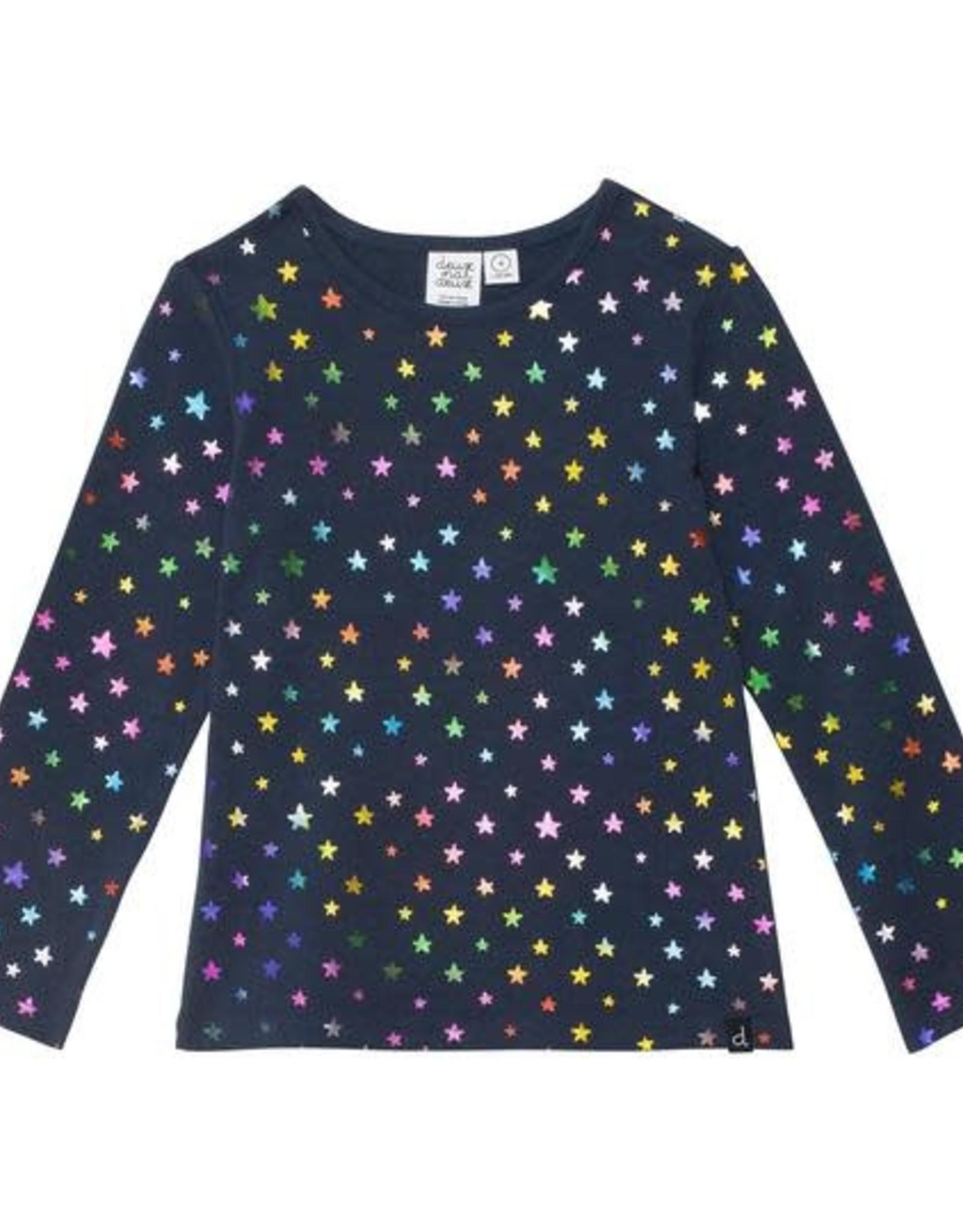Deux Par Deux Organic Cotton Top with Stars