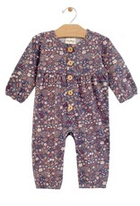 City Mouse Button Gathered Romper, Multi Floral