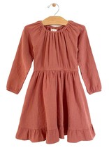 City Mouse Crinkle Cotton Gathered Dress, Ember