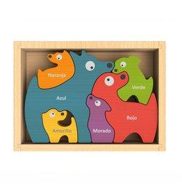 Begin Again Bilingual Dog Family Puzzle